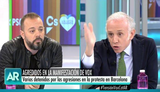 Antonio Maestre y Eduardo Inda, en El Programa de Ana Rosa. TELECINCO