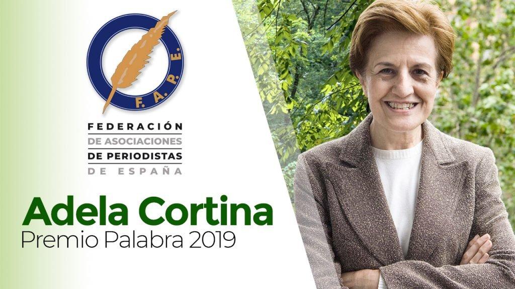 """Adela Cortina, ganadora del Premio """"Palabra"""""""