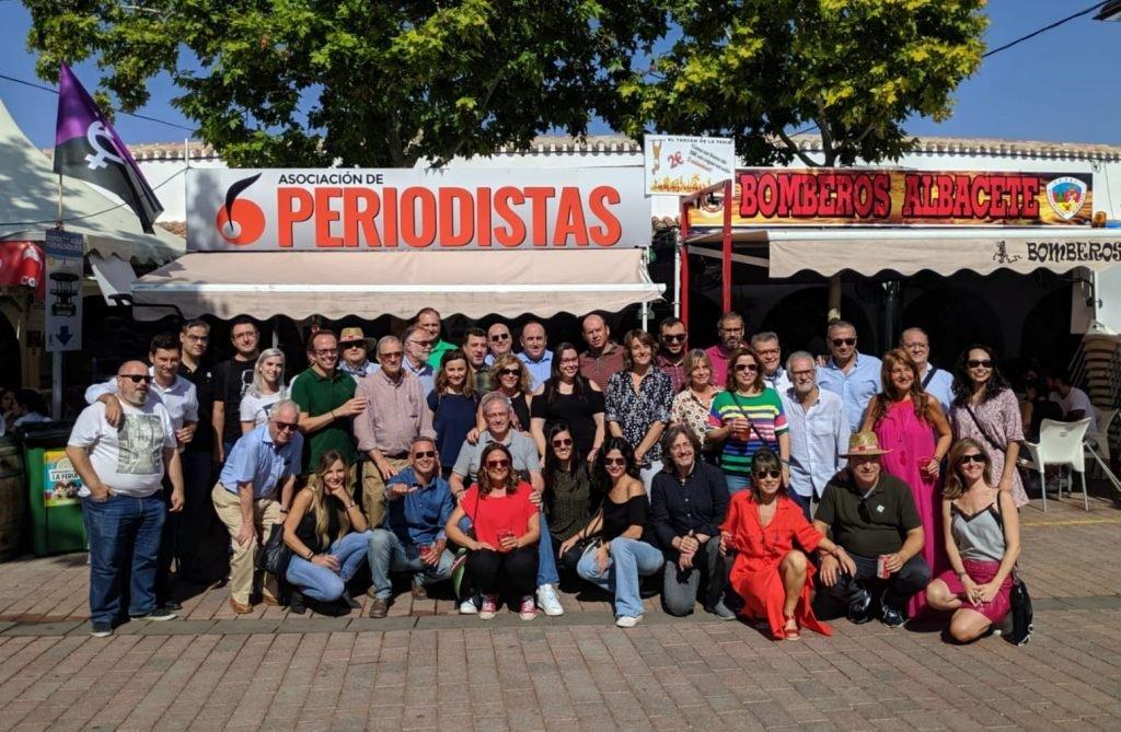 La Asociación de Periodistas de Albacete celebra la más multitudinaria comida de prensa en la Feria