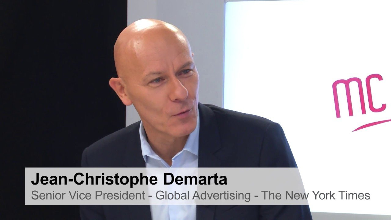 El vicepresidente global de publicidad de 'The New York Times', Jean Christophe Demarta