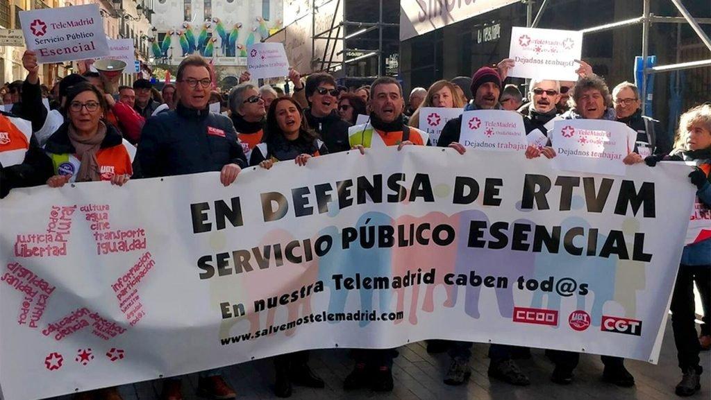 """CCOO exige el fin del """"hostigamiento"""" contra Telemadrid """"puesto en marcha por el PP y Vox"""""""