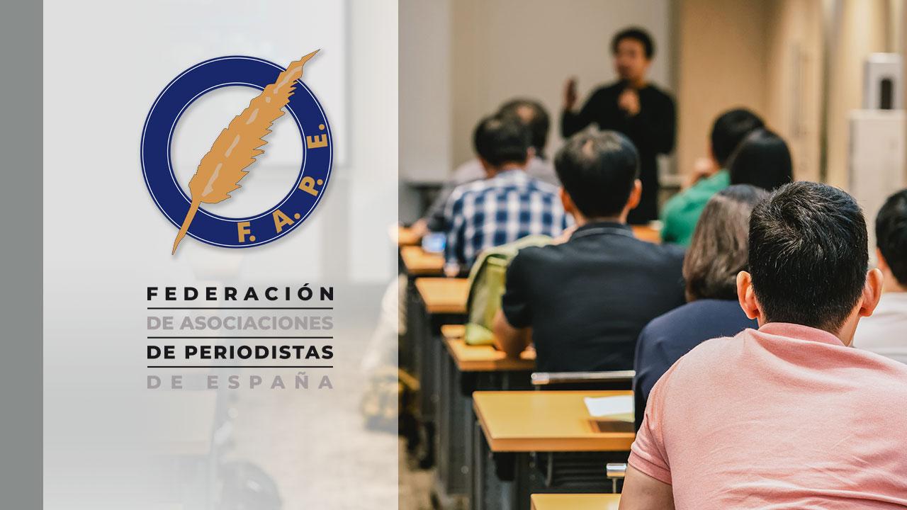 La FAPE propone a los grupos parlamentarios que incluyan enmiendas a la reforma educativa con las demandas de los periodistas