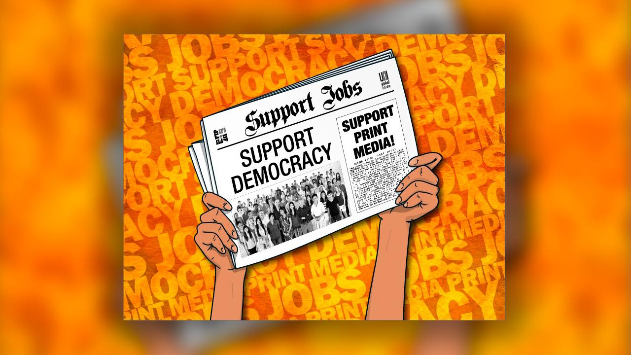 La FAPE se une a la campaña puesta en marcha por los sindicatos mundiales para garantizar el futuro del periodismo