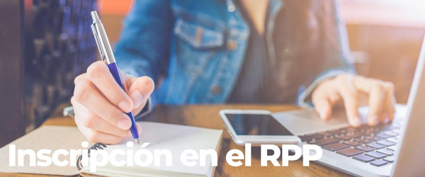 Inscripción en el RPP